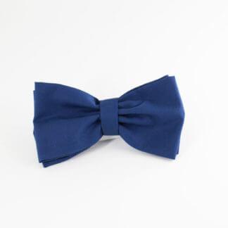 Papillon uomo in tessuto di cotone blu