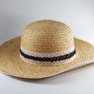 Cappello in paglia con passamaneria